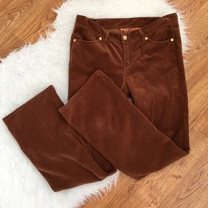 Tory Burch  Tory Classic Brown Curduroy Pants